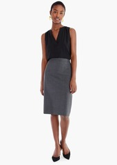 J.Crew No. 2 Pencil® skirt in Italian stretch wool
