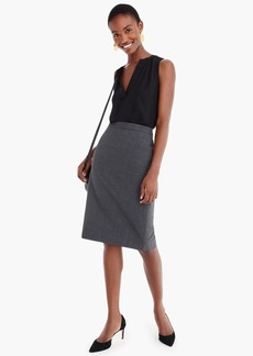J.Crew No. 2 Pencil® skirt in Italian stretch wool