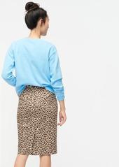 J.Crew No 2. Pencil® skirt in leopard bi-stretch cotton