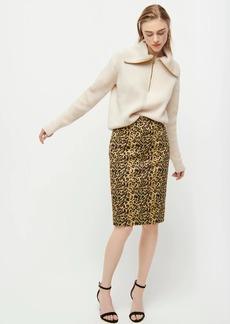 J.Crew No. 2 Pencil® skirt in leopard-print bi-stretch cotton