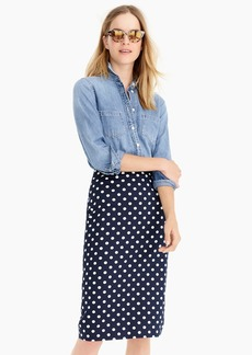 J.Crew No. 2 Pencil® skirt in polka-dot bi-stretch cotton