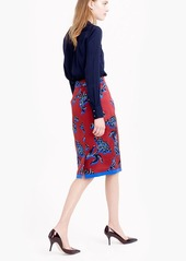 J.Crew No. 2 pencil skirt in vibrant wildflower