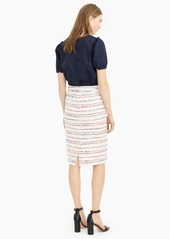 J.Crew No 2. Pencil® skirt in white multicolor tweed