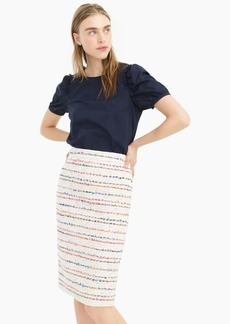 J.Crew No 2. Pencil® skirt in white multicolor tweed