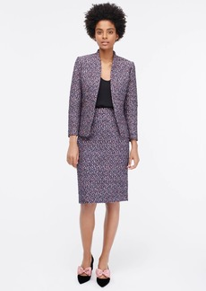 J.Crew No.2 pencil skirt in pink confetti tweed