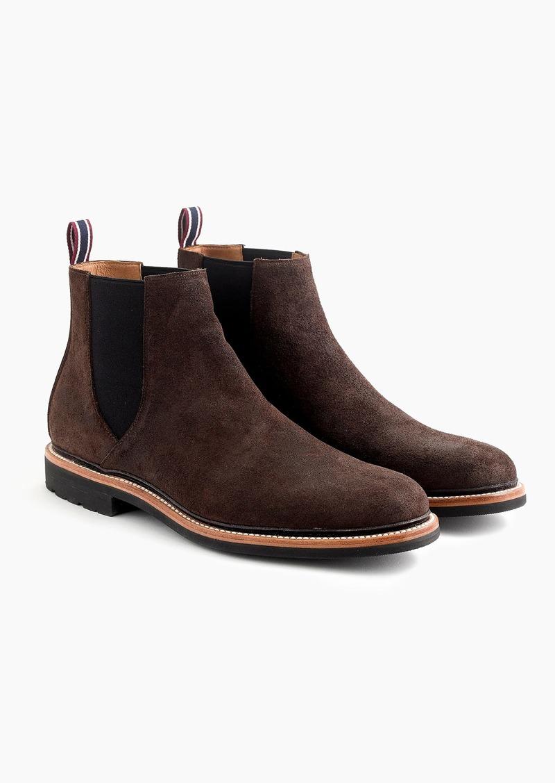 best collection best deals on official shop SALE! J.Crew Oar Stripe Chelsea boots in water-resistant Italian suede