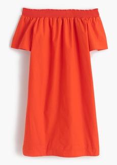 J.Crew Off-the-shoulder dress in cotton poplin