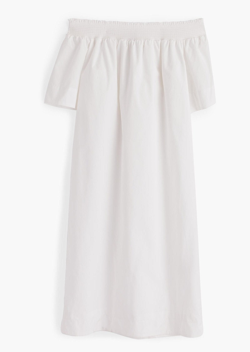 J.Crew Off-the-shoulder dress in cotton poplin