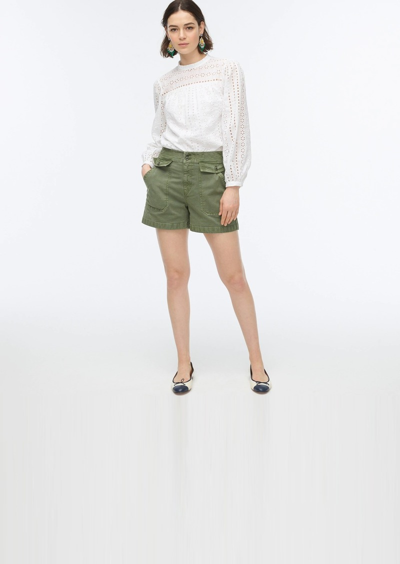 J.Crew Officer short in garment-dyed cotton