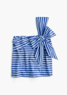 J.Crew One-shoulder bow top in stripe