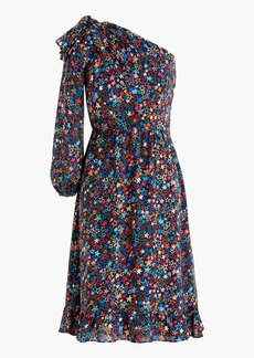 One-shoulder dress in kaleidoscope star print