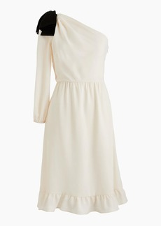 J.Crew One-shoulder dress with bow