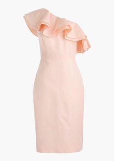 J.Crew Petite one-shoulder ruffle dress in faille