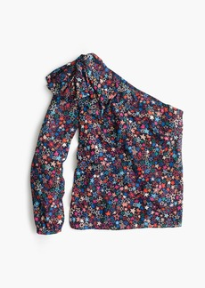 J.Crew One-shoulder top in kaleidoscope star print