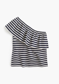 J.Crew One-shoulder top in stripes
