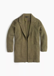 J.Crew Petite open-front sweater-blazer