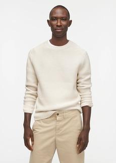 J.Crew Organic cotton crewneck sweater in garter stitch