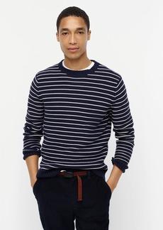J.Crew Organic cotton crewneck sweater in striped garter stitch