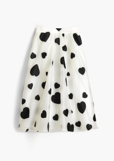 Organza skirt in heart print