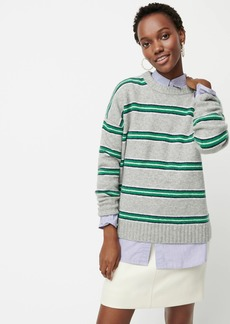 J.Crew Oversized striped crewneck sweater in supersoft yarn