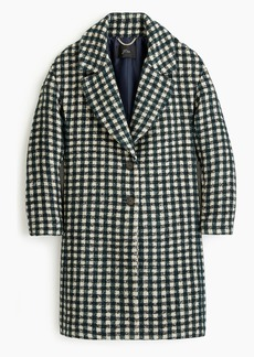 J.Crew Oversized topcoat in check tweed
