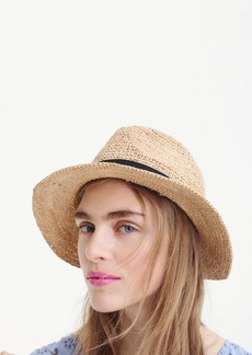 J.Crew Packable straw hat