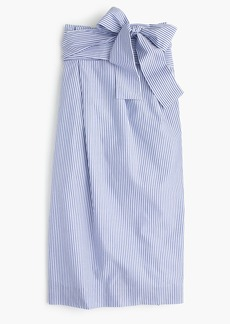 J.Crew Paper-bag skirt in shirting stripe