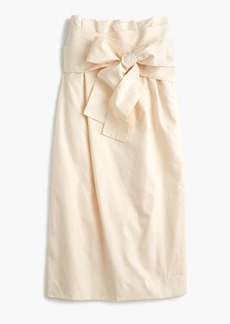 Paper-bag skirt in twill