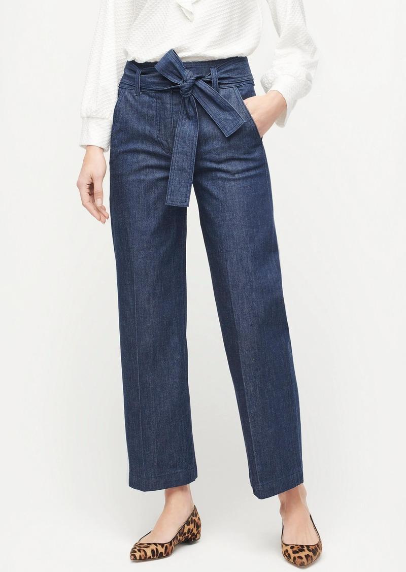 J.Crew Paperbag waist slim wide-leg jean in rinse wash