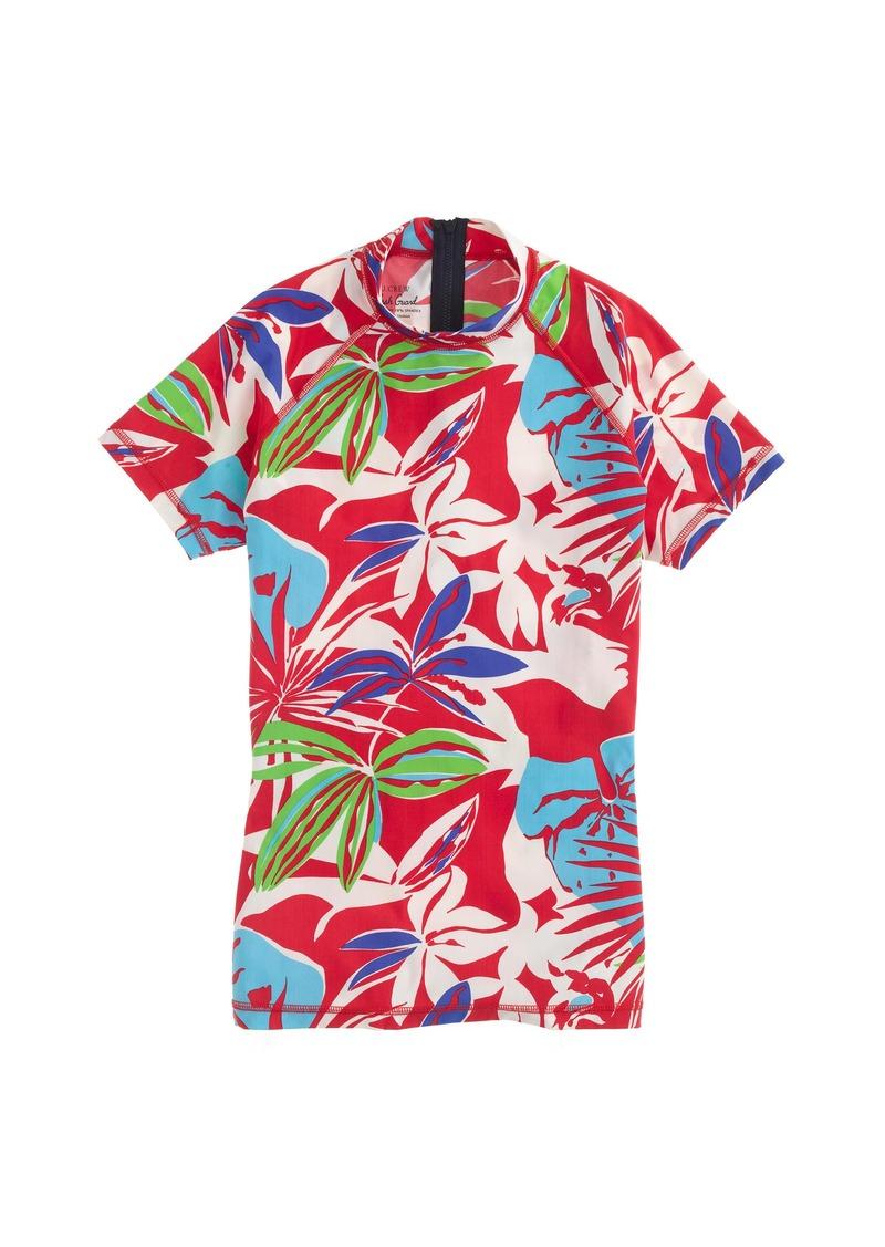 J.Crew Paradise floral short-sleeve rash guard