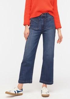 J.Crew Patch pocket slim wide-leg jean in Vivid Indigo wash