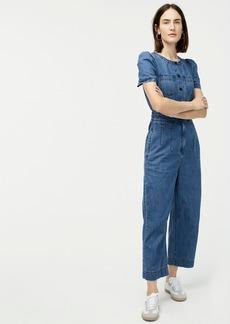 J.Crew Patch-pocket utility jumpsuit in indigo denim