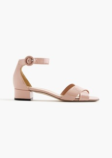 J.Crew Patent leather cross-strap sandals
