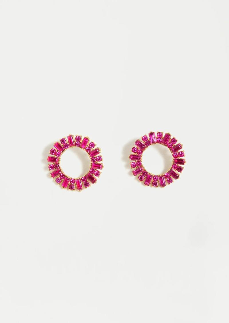J.Crew Pavé circle stud earrings