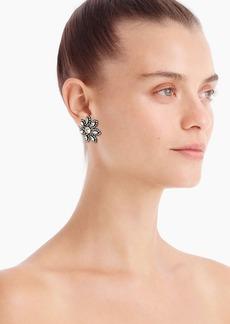 J.Crew Pavé flower stud earrings