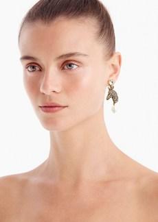 J.Crew Pavé zebra pearl drop earrings