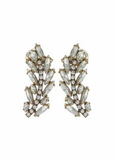 J.Crew Pave Feather Climber Earrings