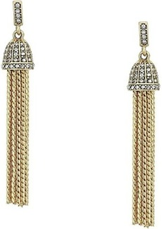 J.Crew Pave Ridged Tassel Earrings