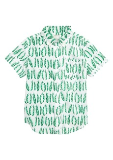 J.Crew Pea Pods Stretch Poplin Shirt