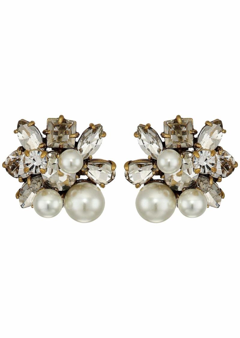 J.Crew Pearl and Crystal Earrings