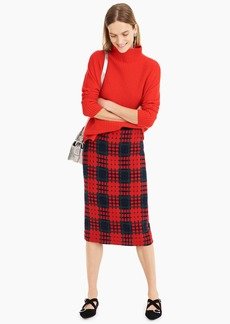 J.Crew Pencil skirt in holiday lattice print