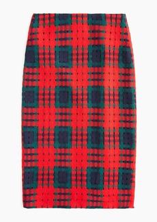 J.Crew Pencil skirt in holiday lattice print