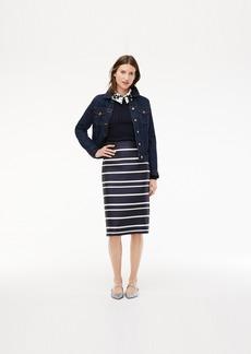 J.Crew Pencil skirt in jacquard stripe