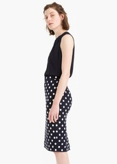 J.Crew Pencil skirt in polka-dot textured tweed