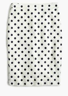 J.Crew Pencil skirt in polka dot textured tweed