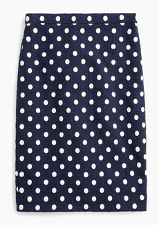 J.Crew Pencil skirt in polka-dot textured tweed