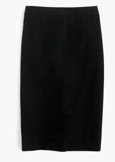 Pencil skirt in seersucker
