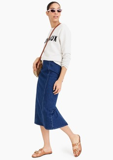 J.Crew Pencil skirt in stretch denim