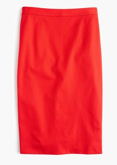 J.Crew Pencil skirt in two-way stretch cotton