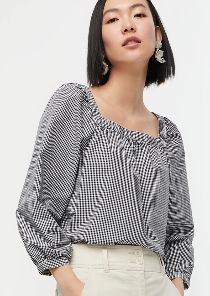 J.Crew Penny top in gingham